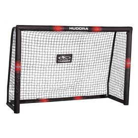 Ворота футбольные HUDORA Pro Tech 240, цвет чёрный/красный Ош