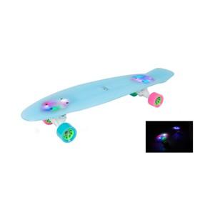 Ретроборд HUDORA Skateboard Retro Eisglow 27', цвет голубой Ош