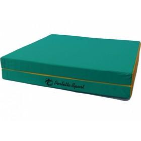Мат PERFETTO SPORT, 100 х 150 х 10 см, складной, 1 сложение, зелёный/жёлтый