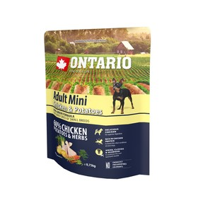 Сухой корм Ontario для собак малых пород, курица и картофель, 750 г. Ош