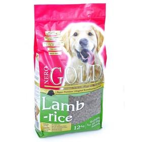 Сухой корм Nero Gold для собак, ягненок и рис, 12 кг.