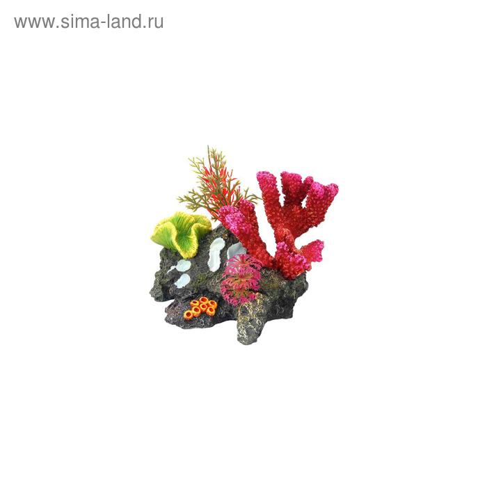 "Декорация Fauna INT ""Кораллы"", 13,5х13х21см, пластик"