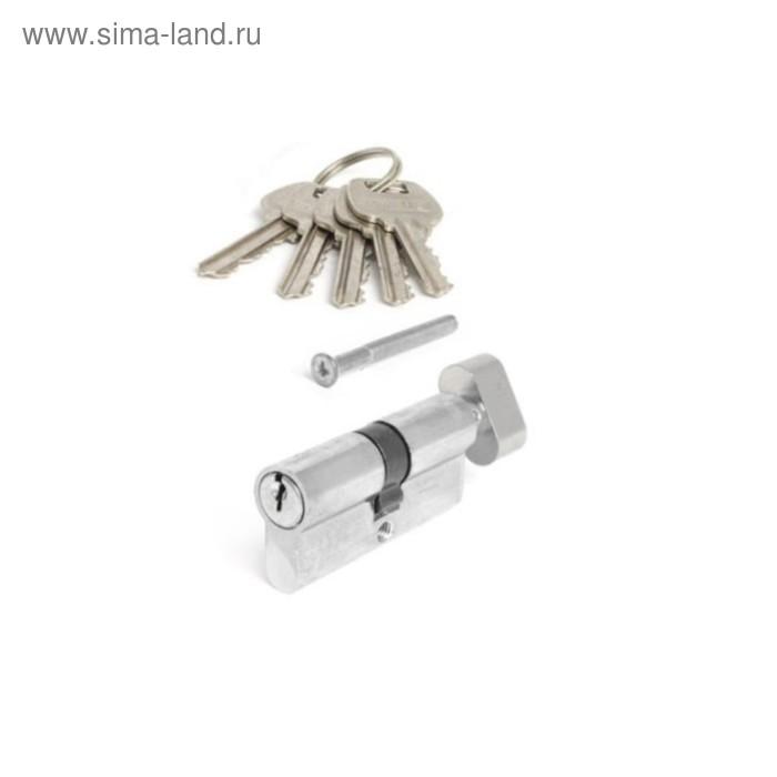 Цилиндровый механизм Avers LL-60-C-NI, 28.5 мм, англ. ключ-вертушка, 5 ключей, цвет никель