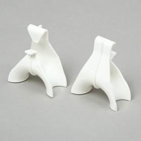 Держатель для кистей вьющихся растений, набор 5 шт., белый Ош