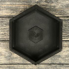 Форма для тротуарной плитки «Сота», 19.5 × 22.5 × 5 см, 1 шт. Ош