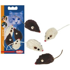 """Игрушка Nobby """"Мышка плюшевая"""" для кошек, 5см, 3шт/упк"""