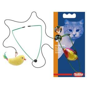 """Игрушка Nobby """"Птичка на резинке"""" для кошек, 8см"""