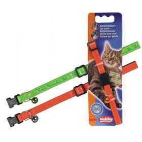 """Ошейник Nobby """"Неон"""" для кошек, оранжевый"""