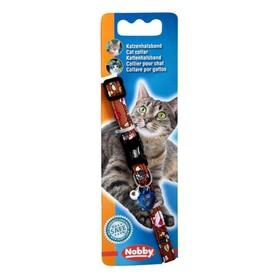 """Ошейник Nobby """"Цветочный"""" для кошек, коричневый"""