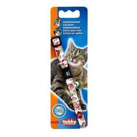 """Ошейник Nobby """"Цветочный"""" для кошек, белый"""