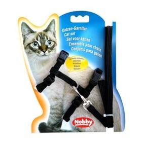 Шлейка Nobby для кошек, черная Ош