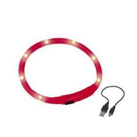 Шнур Nobby для собак, светодиодный/аккум. 40см, красный