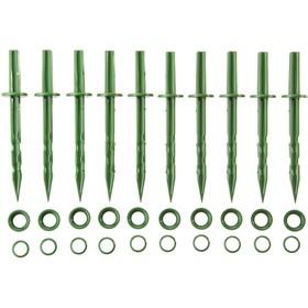 Колышек садовый, h = 20 см, набор 10 шт., зелёный Ош