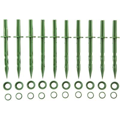 Колышек садовый, h = 20 см, набор 10 шт., зелёный - Фото 1