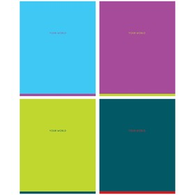 Тетрадь 48 листов клетка Greenwich Line. One color, матовая ламинация, 70 г/м², МИКС