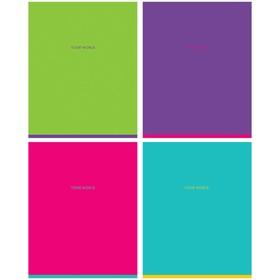 Тетрадь 48 листов линейка Greenwich Line. One color, матовая ламинация, 70 г/м², МИКС