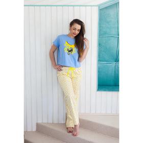 Футболка женская KAFTAN 'Banana', голубая, р-р 48-50, 100% хлопок Ош