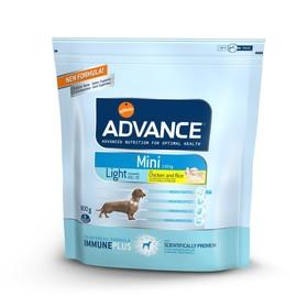 Сухой корм Advance для собак малых пород, контроль веса, курица/рис, 800 г Ош