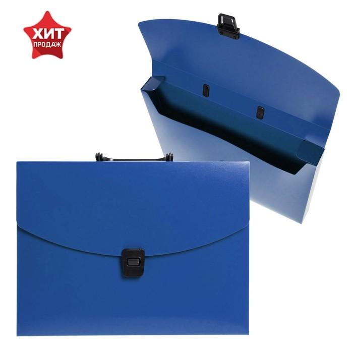 Папка-портфель А4, 1 отделение Calligrata, 700 мкм, песок, синяя