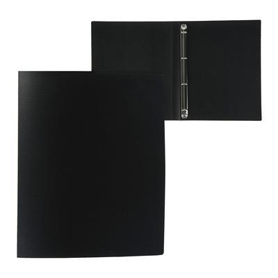 Папка на 4 кольцах А4 пластиковая, 25 мм, 500 мкм, Calligrata, песок, чёрная