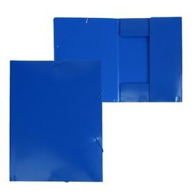 Папка на резинке А4, 500 мкм, Calligrata, песок, синяя Ош