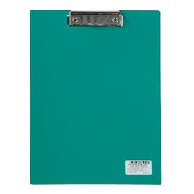 Планшет с прижимом А4, Calligrata, песок, зелёная Ош