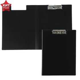 Папка-планшет с прижимом А4, 1.2 мм, Calligrata, песок, чёрная Ош