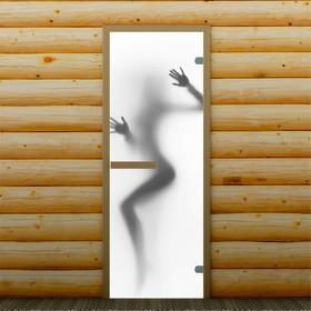 Дверь для бани и сауны 'Силуэт', 190 х 70 см, с фотопечатью 6 мм Добропаровъ Ош