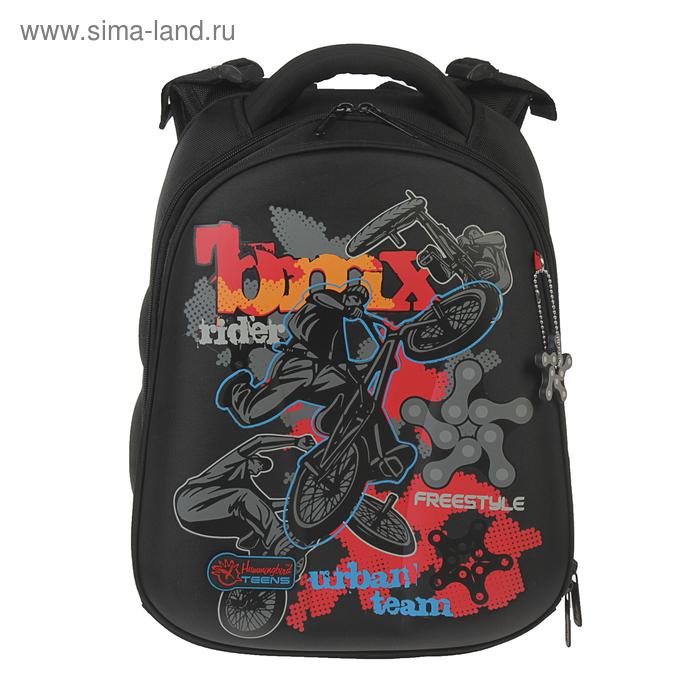 Рюкзак каркасный Hummingbird 39*28*20 для мальчика Freestyle, чёрный 90Т