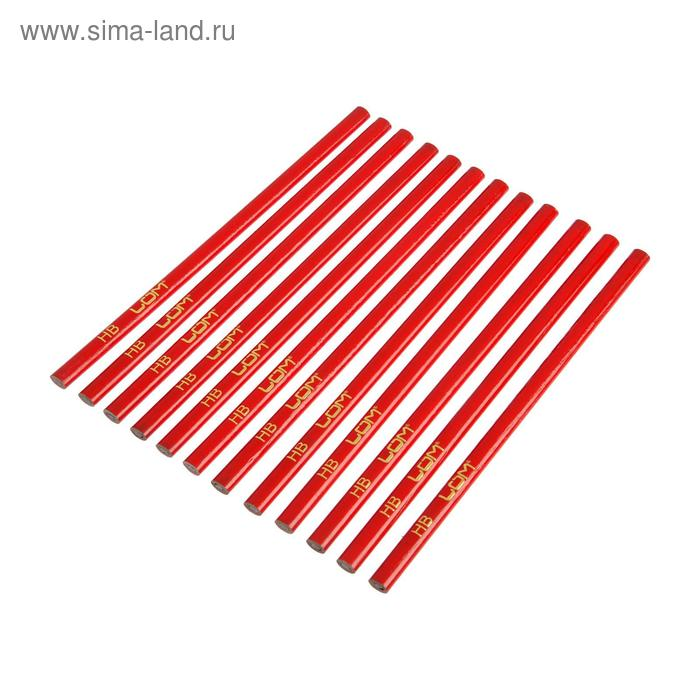 Строительный карандаш LOM, 250 мм, (набор 12 шт).