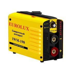 Сварочный аппарат инверторный Eurolux IWM190, 220 В, 10-190 А, IP21, дуга 27.6 В