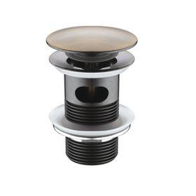 """Донный клапан для раковины WasserKRAFT A046, Push-up, """"светлая бронза"""""""