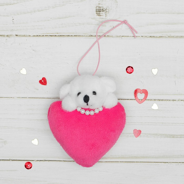 Подвеска Мишка с сердцем, цвета МИКС