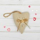Подвеска «Двойное сердце», с пуговкой и бантиком, цвета МИКС