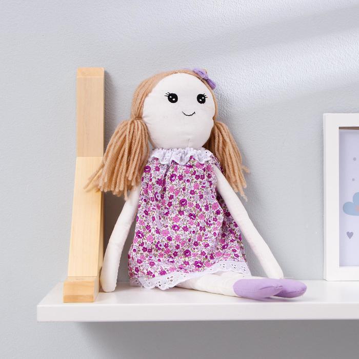 Подвеска Кукла Людочка, цветочек на головке, цвета МИКС