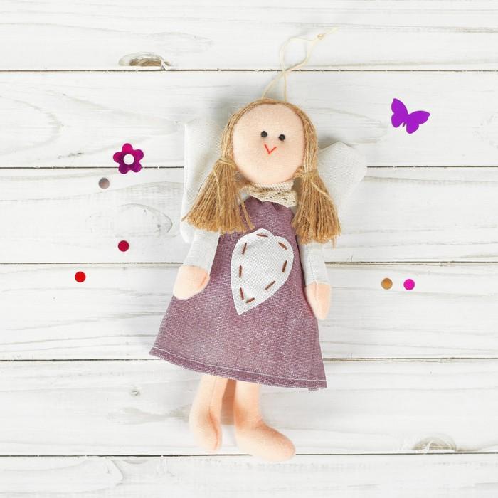 Подвеска Ангел, кукла, сердце со стежками, цвета МИКС