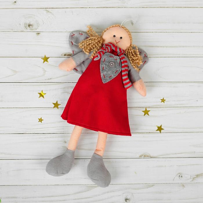 Подвеска Ангел, кукла, полосатый шарфик, цвета МИКС