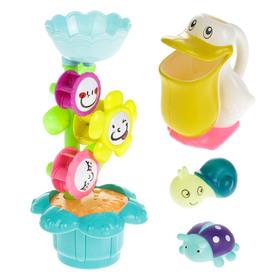 Игрушки для купания «Весёлая компания», 4 предмета