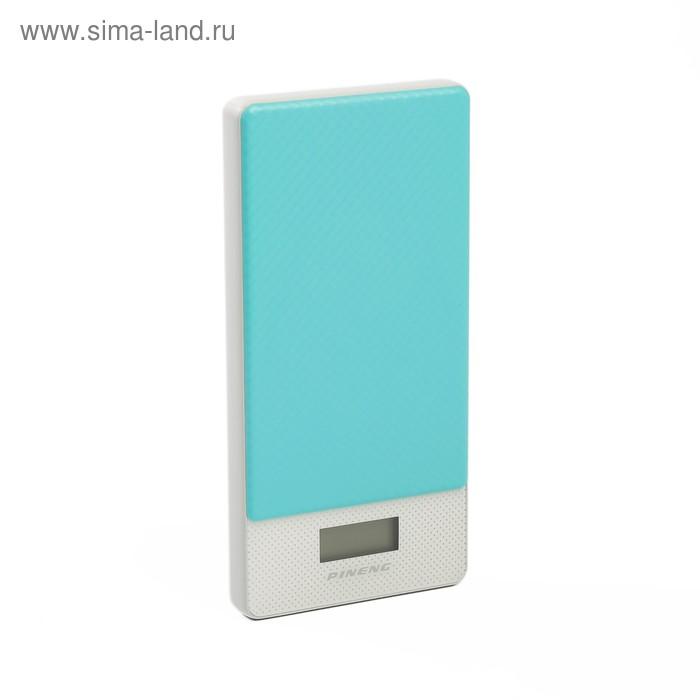 Внешний аккумулятор Pineng PN-993, полимер, USB Type-C, 10000мАч, голубой   337500
