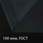 Плёнка полиэтиленовая, толщина 100 мкм, 3 × 100 м, рукав, прозрачная, 1 сорт, ГОСТ 10354-82