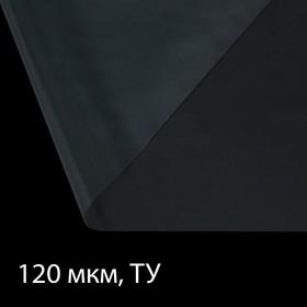 Плёнка полиэтиленовая, толщина 120 мкм, 3 × 10 м, рукав (1,5 м × 2), прозрачная, 1 сорт, Эконом 50 % Ош