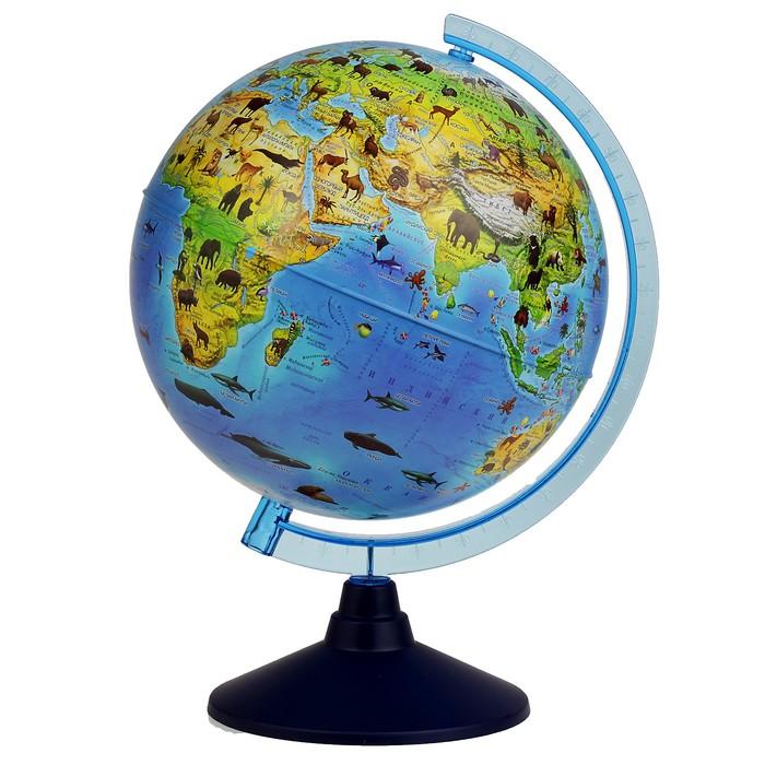 Глoбус зоогеографический детский Классик Евро, диаметр 250 мм