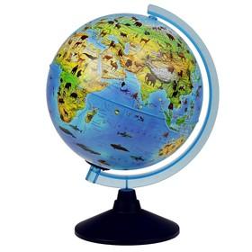 Глoбус зоогеографический (детский) «Классик Евро», диаметр 250 мм, с подсветкой от батареек Ош