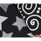 КПБ Stars 2 сп, 240 х 260 см, 200 х 220 см, 50 х 70 см, 70 х 70 см по 2 шт., поплин, чёрный - Фото 2