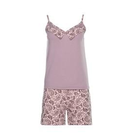 Комплект женский (майка, шорты) 135 цвет серый, р-р 52