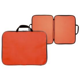 Папка А3 с ручками, текстиль, 20 мм, Стандарт, 470 х 350 мм, Оранжевая Ош