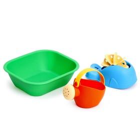 Набор для купания мягкий №5: ванночка, лейка малая, кит, МИКС