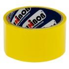 Клейкая лента упаковочная 48 мм х 24 м, 45 мкм UNIBOB (желтая)
