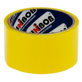Клейкая лента упаковочная 48 мм х 24 м, 45 мкм UNIBOB (желтая) Ош