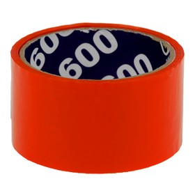 Клейкая лента упаковочная 48 мм х 24 м, 45 мкм UNIBOB (оранжевая) Ош